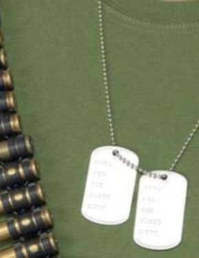 Army Fancy Dress Dog Tags